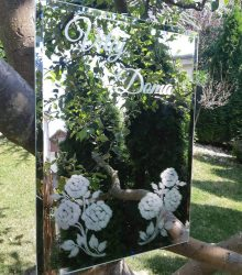 Gravírované zrkadlo