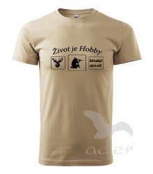 polovnicke tričko pieskova farba