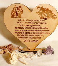 Srdcom Motorkár darček