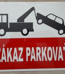 Tabuľka zákaz parkovať