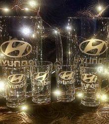 Gravírovaný set pohárov
