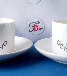 Espresso set s potlačou