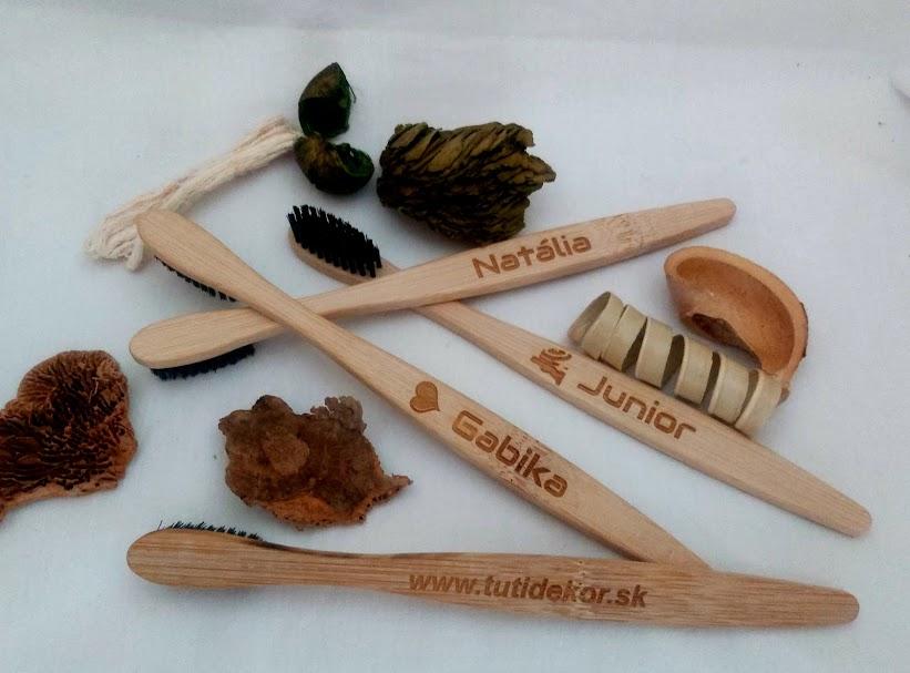 Bambusové zubné kefky