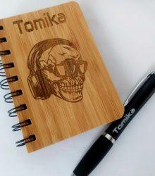 Zápisník Bambusový s gravírovaním A6