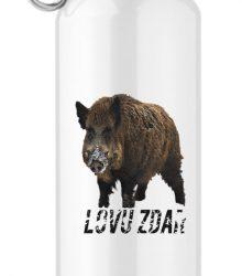 Turistická hliníková flaša s potlačou diviak