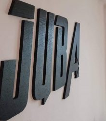 3D nápis JUBA