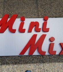 3D nápis pre Obchod Mini Mix