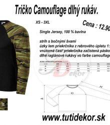 Tričko Camuflage dlhý rukáv