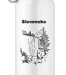 Turistická hliníková flaša s potlačou Slovensko
