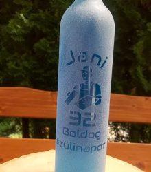 Pieskovaná flaša