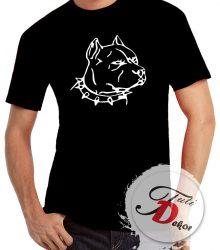 Tričko - hlava pitbull