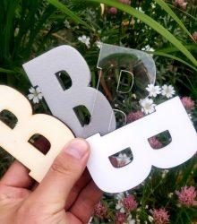 Písmenká na 3D logo