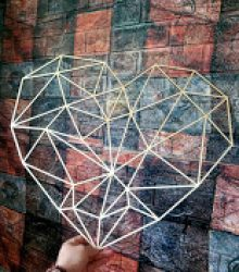 Geometrické srdce dokor