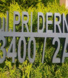 Popisné číslo domu s názvom ulice